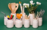 SUD, objetos de cerámica esmaltada