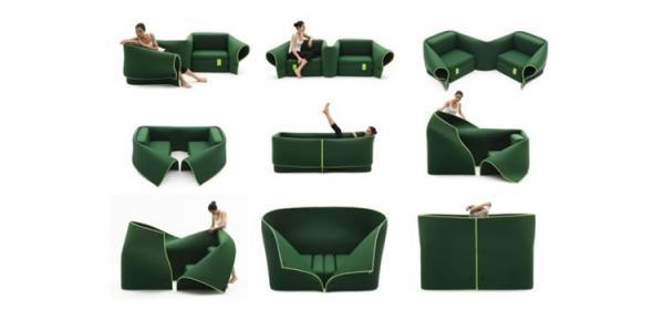 Muebles transformables de la firma italiana campeggi for Diseno de muebles transformables