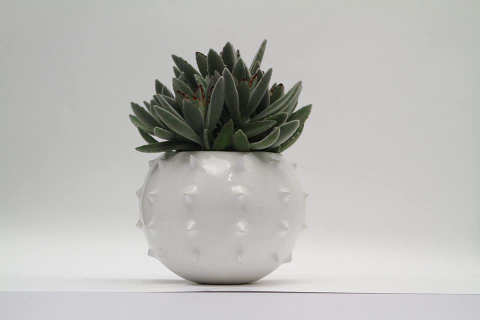Katmand cer mica macetas con algo l dico decototal Macetas ceramica online