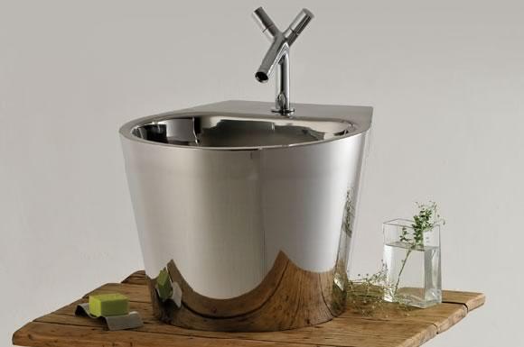 Artefacto Iluminacion Baño:Körb, artefactos de acero inoxidable para el baño