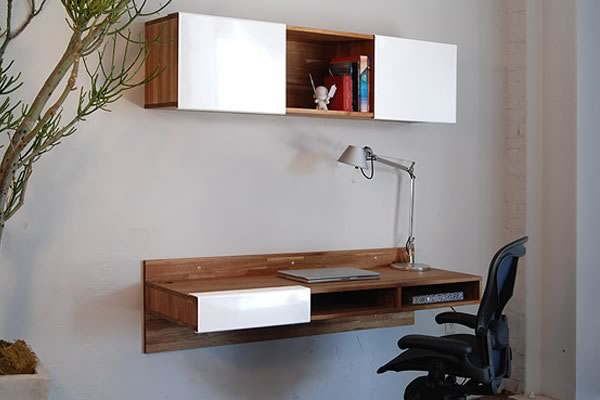 Mashstudios muebles simples de materiales nobles decototal for Lax series wall mounted desk
