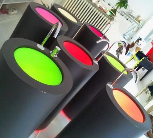 Wet sanitarios en colores fluorescentes decototal - Sanitarios de colores ...