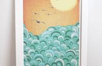 Laura Amiss, imágenes sobre tela y papel